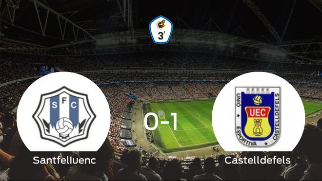 El Castelldefels suma tres puntos a su casillero frente al Santfeliuenc (0-1)