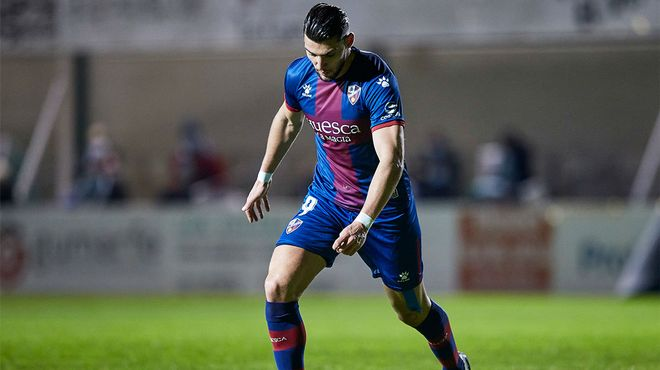 Rafa Mir, goleador del Huesca en la Copa