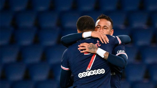 El gol de Neymar ante el Angers tras este jugadón de Mbappé
