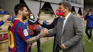 Messi y Laporta, en una imagen de archivo