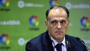 Tebas: Si se rompe España, se rompe la Liga