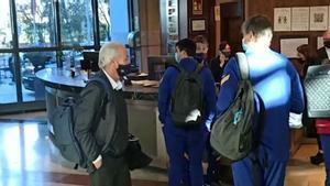 Tusquets viajó con el equipo a Madrid