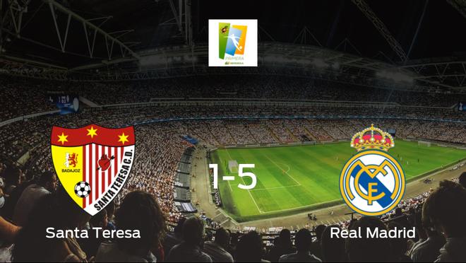 El Real Madrid Femenino se lleva los tres puntos a casa tras golear al Santa Teresa Badajoz (1-5)