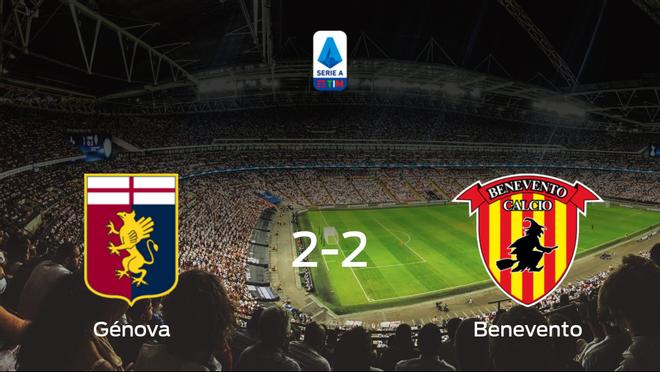 Empate a dos entre el Génova y el Benevento