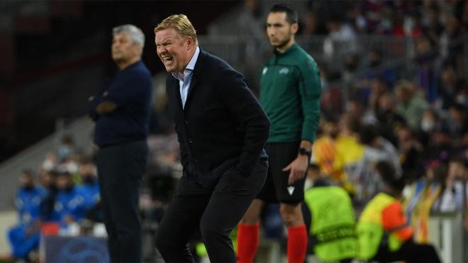 ¡Koeman enfurecido! El técnico no pudo ocultar su cabreo monumental durante el Barça-Dinamo de Kiev