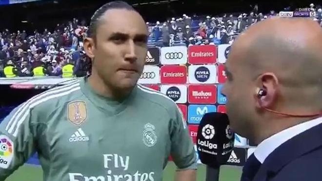 Keylor bromeó con su futuro en el Madrid