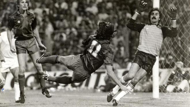 El gol más recordado de Alonso, en la final de Copa de 1983 ante el Madrid