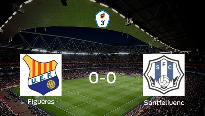 El Figueres y el Santfeliuenc se reparten los puntos en un partido sin goles (0-0)