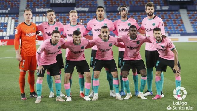 El once del Barça en el Ciutat de València