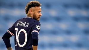 Neymar, en el partido ante el Manchester City