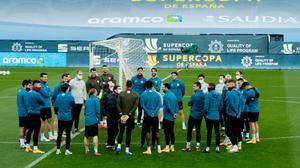 El Athletic, en su entrenamiento previo a la Supercopa