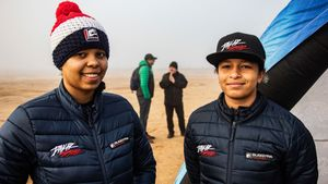 Las gemelas Koloc, en el Dakar