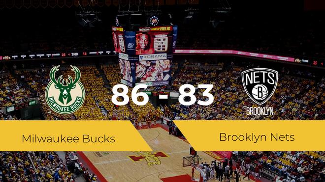 Victoria de Milwaukee Bucks ante Brooklyn Nets por 86-83