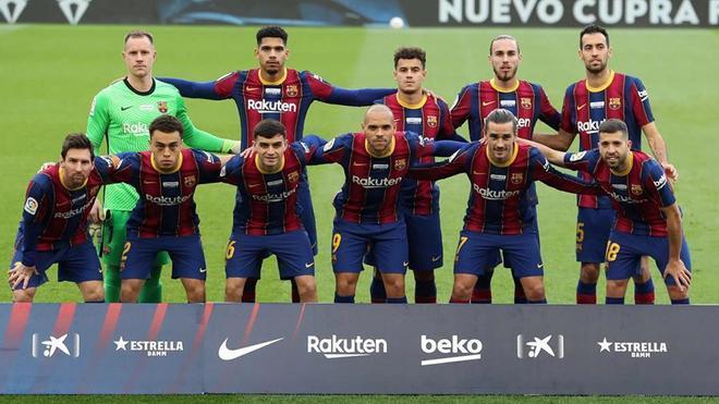 Un once del FC Barcelona de la temporada en curso (2020-21)