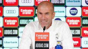 Zidane, durante la rueda de prensa previa al partido ante el Athletic.