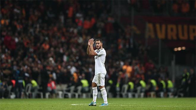 Hazard jugó en Galatasaray su mejor partido con el Real Madrid