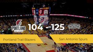 San Antonio Spurs gana a Portland Trail Blazers (104-125)