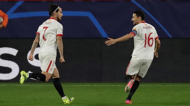 El Sevilla se adelantó ante el Dortmund gracias a Suso