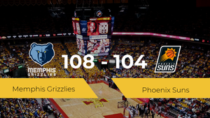 Memphis Grizzlies se lleva la victoria frente a Phoenix Suns por 108-104