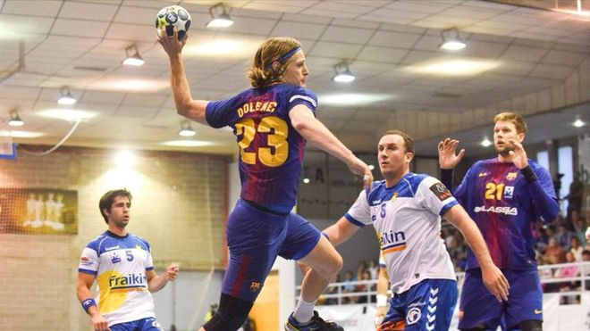 Jure Dolenec marcó cuatro goles en la victoria azulgrana