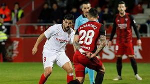 Nolito marcó el único tanto del Sevilla ante el Mirandés