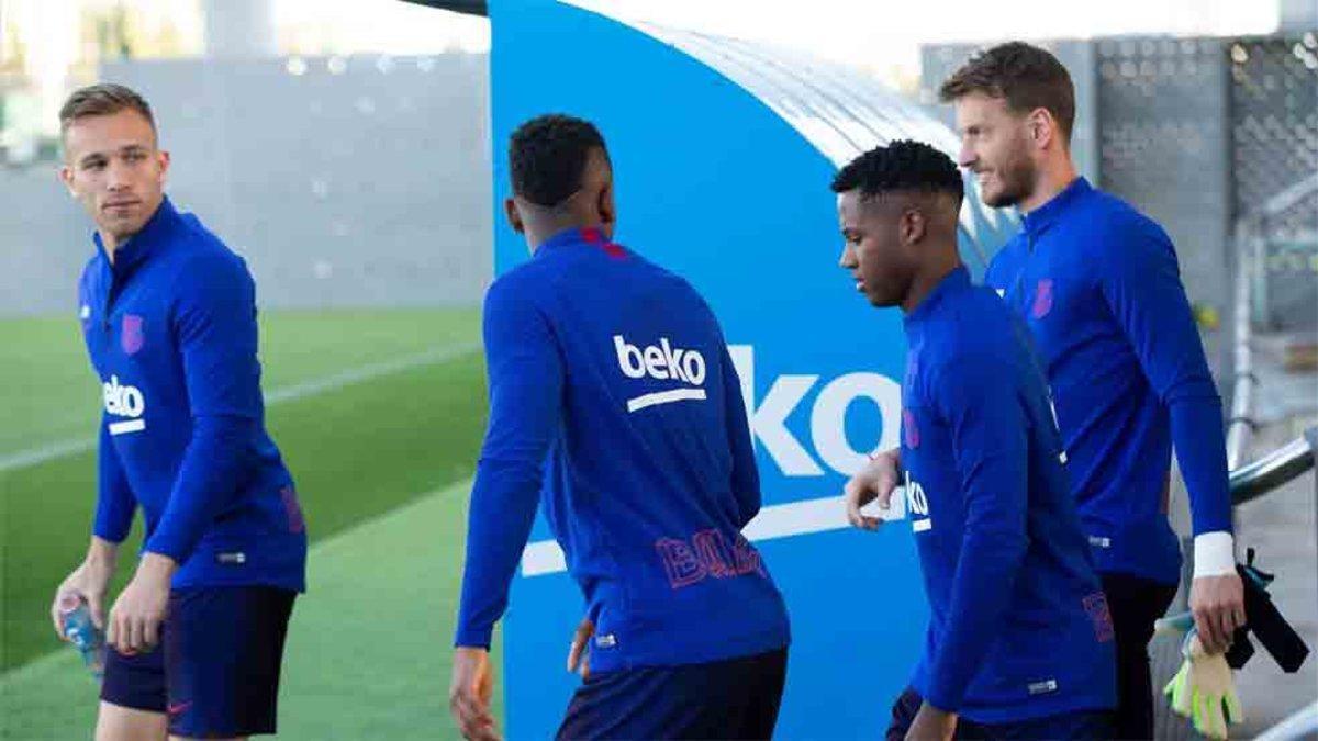 El Barcelona ha realizado un entrenamiento de recuperación