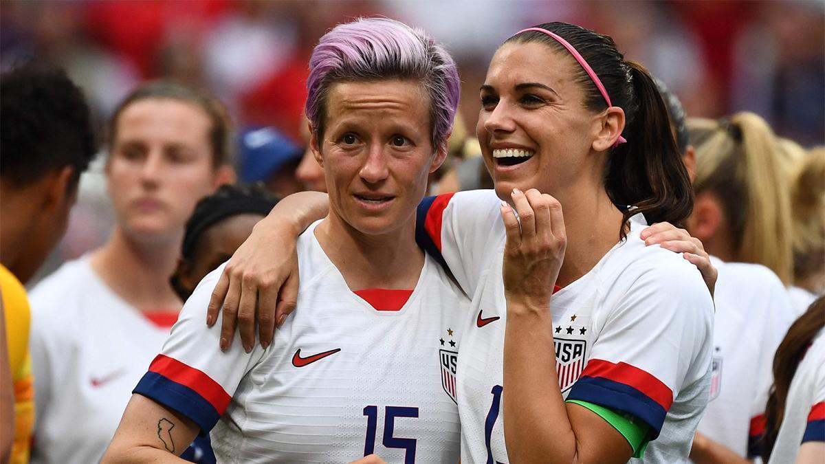 Rapinoe y Morgan con la selección de EEUU