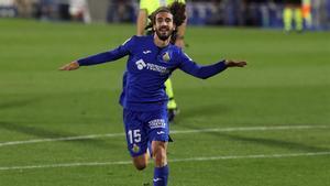 Cucurella, celebrando un gol con el Getafe