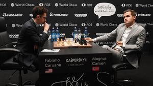 Caruana y Carlsen, en una imagen de archivo