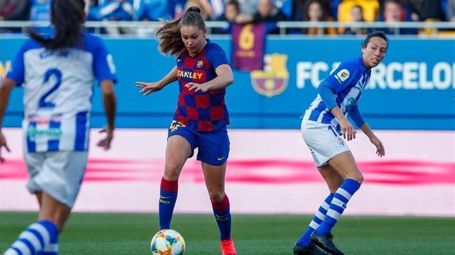Partido entre el Barcelona y el Sporting de Huelva