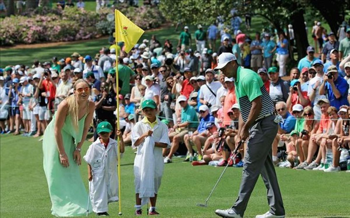 Tiger Woods a offert son visage le plus familier et amical