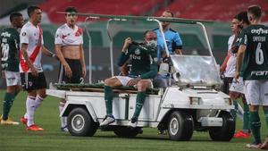 Gustavo Gómez se retiró lesionado en el Palmeiras - River Plate