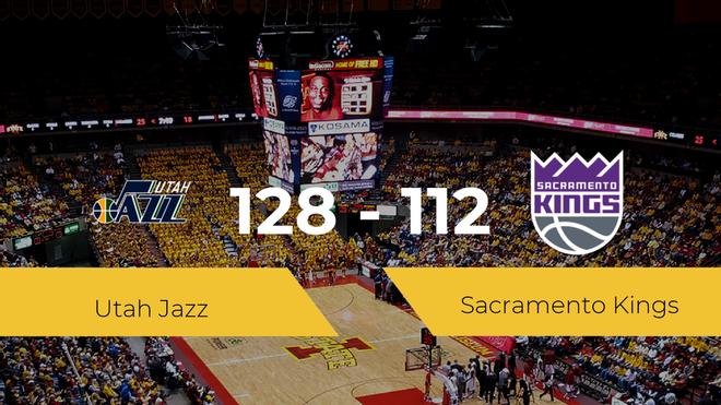Utah Jazz se hace con la victoria contra Sacramento Kings por 128-112