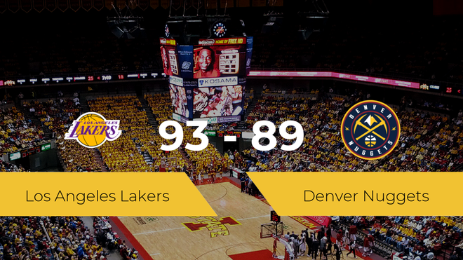 Los Angeles Lakers consigue la victoria frente a Denver Nuggets por 93-89