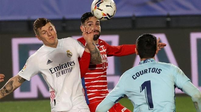 Imagen del partido de ida entre Real Madrid y Granada.