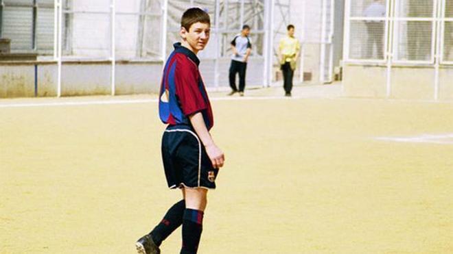 Así jugaba Messi en sus inicios en La Masia
