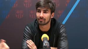 André Gomes es consciente de que el Barça es otra historia