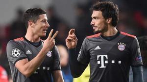 Hummels y Lewandowski, jugadores del Bayern de Múnich
