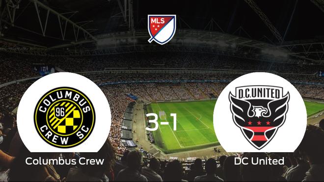 El Columbus Crew gana al DC United por 3-1