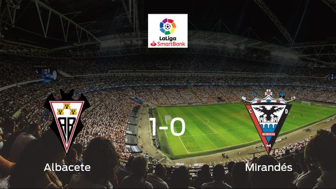 Triunfo del Albacete por 1-0 ante el CD Mirandés