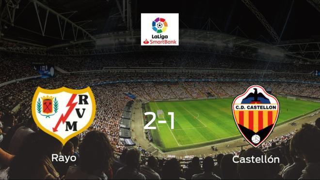 El Rayo Vallecano vence 2-1 al Castellón y se lleva los tres puntos