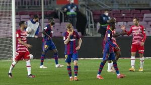 El Barça sufrió un varapalo muy duro ante el Granada