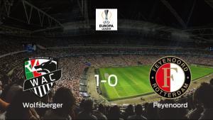 El Wolfsberger AC gana 1-0 en casa al Feyenoord Rotterdam