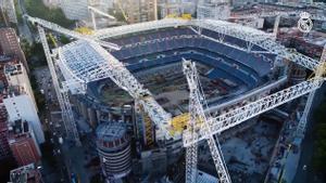 Así progresan las obras del nuevo Santiago Bernabéu