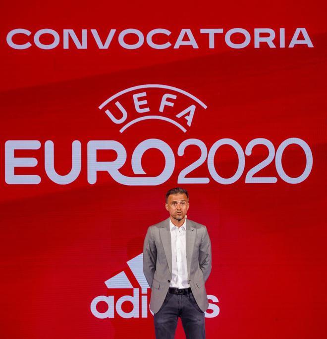 Luis Enrique, en la presentación de la lista de la Eurocopa