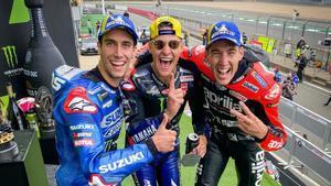 El podio de MotoGP
