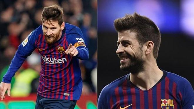Messi y Piqué, en rueda de prensa