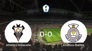 El Atlético Albacete y el Atlético Ibañés concluyen su enfrentamiento en el Ciudad Deportiva Andrés Iniesta sin goles (0-0)