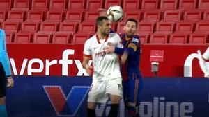 Jordán simuló una agresión de Messi... sin éxito