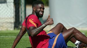 Koeman: Umtiti podrá estar para jugar en dos semanas